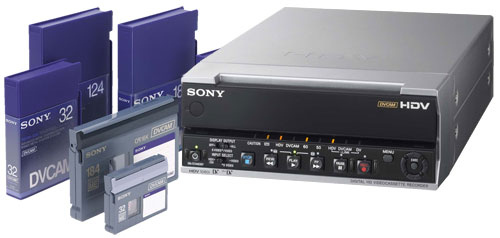 DVcam Tapes and Player